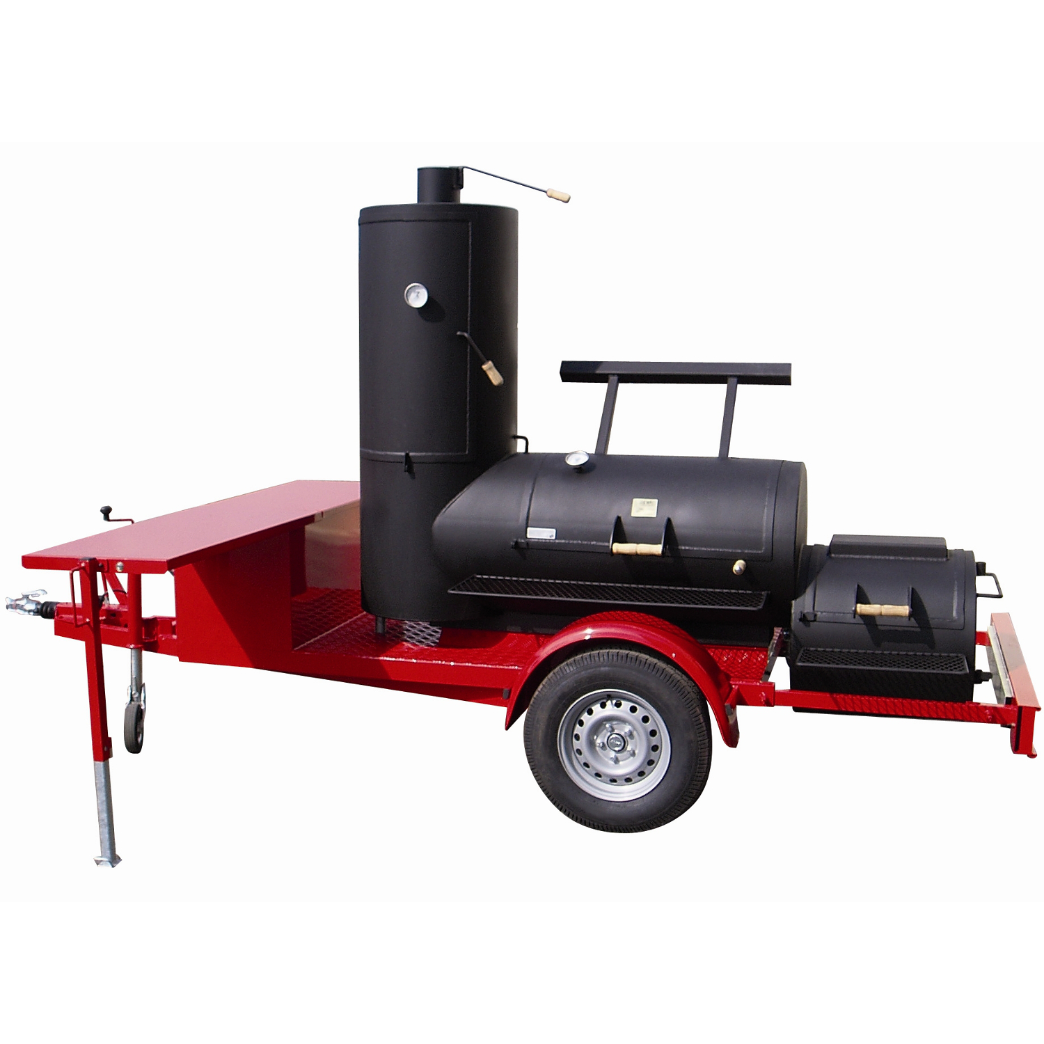 joe 39 s bbq smoker 24 chuckwagon catering trailer online kaufen grilljack ch. Black Bedroom Furniture Sets. Home Design Ideas