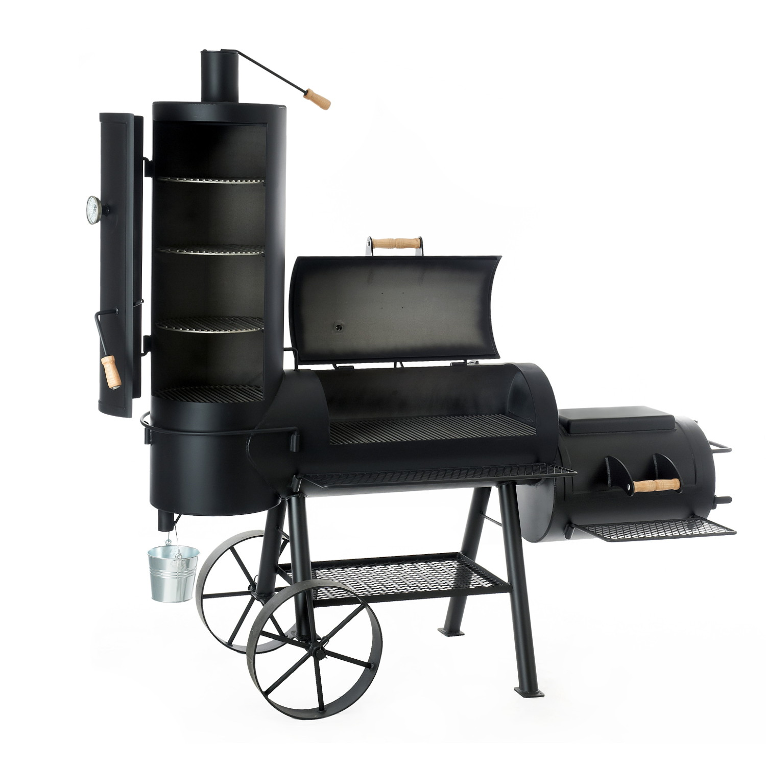 joe 39 s bbq smoker das original 16 chuckwagon online kaufen grilljack ch. Black Bedroom Furniture Sets. Home Design Ideas