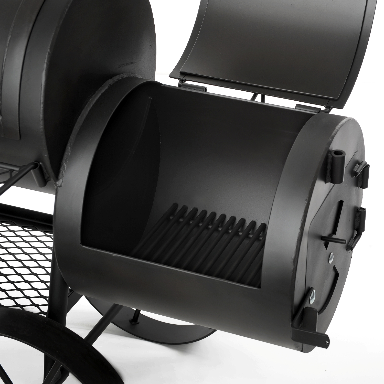 joe 39 s bbq smoker pitmaster 16 reverse flow online kaufen grilljack ch. Black Bedroom Furniture Sets. Home Design Ideas